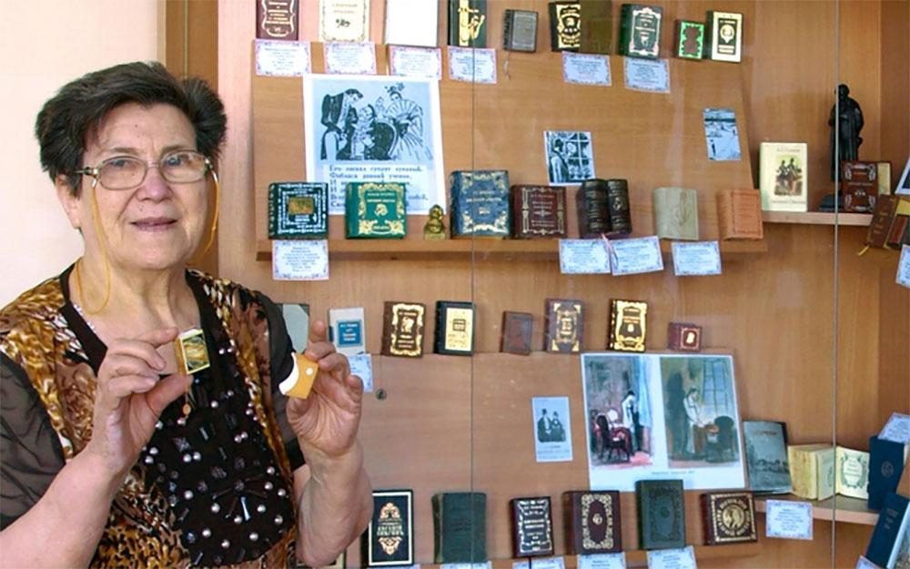 В коллекции Жанны Обуховой более 5000 экземпляров миниатюрных книг