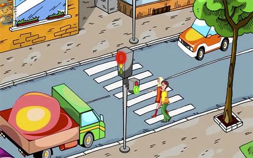Как правильно переходить дорогу? Это должен знать каждый школьник.