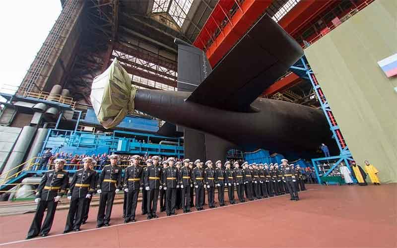 На Севмаше спустили на воду атомный крейсер «Красноярск».