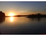 Озеро Большой Кисегач. Солнце садится (фото Руслана Гирфанова, Копейск)